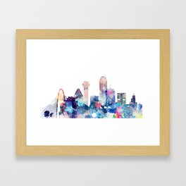 Dallas Texas Blue Skyline Framed Art Print