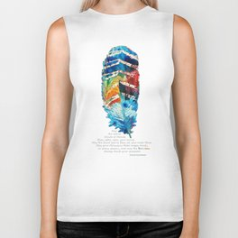Colorful Feather Art -  Blessing - By Sharon Cummings Biker Tank