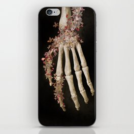"""Spring 1"" skull and flowers iPhone Skin"