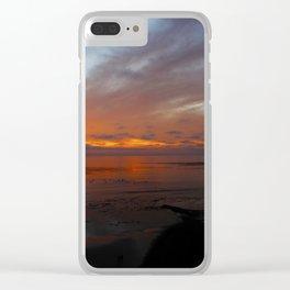 Ocean Orange Clear iPhone Case