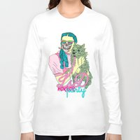 horror Long Sleeve T-shirts featuring Lsd  horror party by DIVIDUS