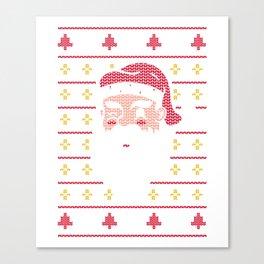 Santa Claus embroidered Canvas Print