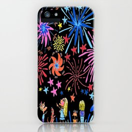 let's go see fireworks iPhone Case