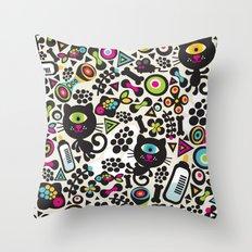 Black cats. Throw Pillow