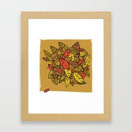 Autumn Memories (a pile of leaves) Framed Art Print