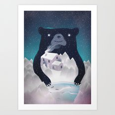 I ♥ Winter Art Print