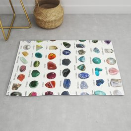 crystals gemstones identification Rug