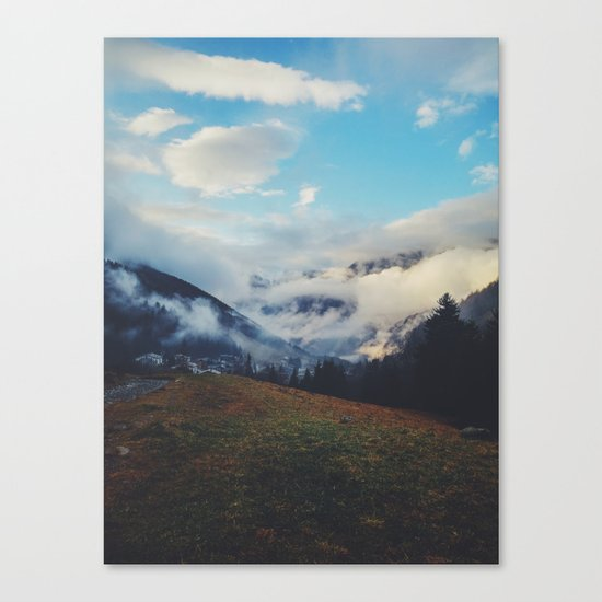 Valley in the spring Canvas Print