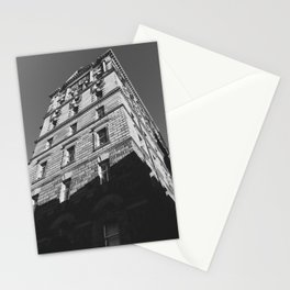 Edinburgh Old Town Building (Black and White) - Architectural Photography Stationery Cards