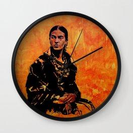FRIDA KAHLO - the mistress of ARTs - original painting Wall Clock