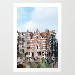 Summer in Amsterdam, Holland || Cityscape travel photography in light colors Art Print