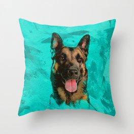 Malinois - Belgian shepherd -Mechelaar -Maligator Throw Pillow