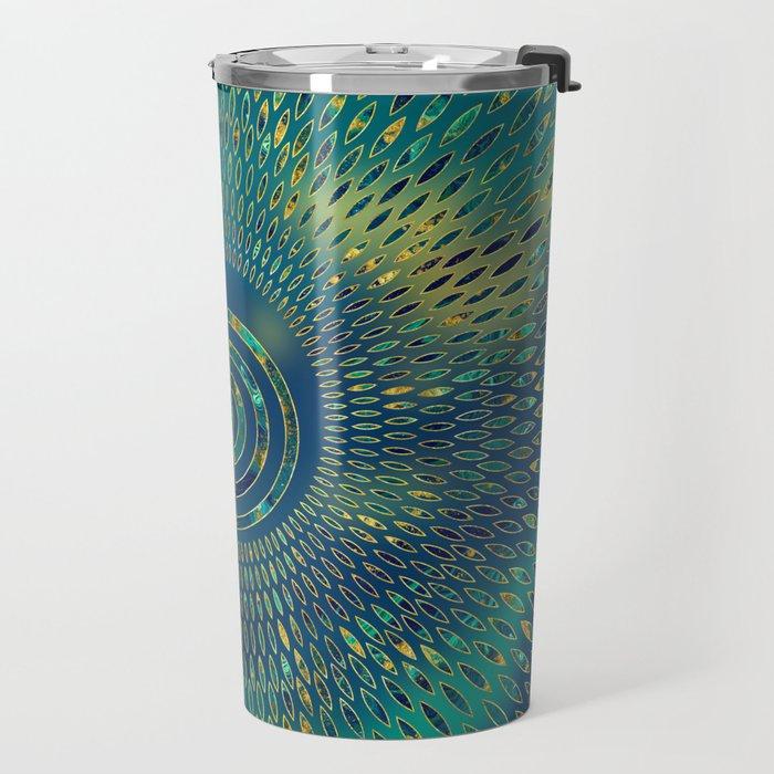 Reiki Cho Ku Rei - gemstone and gold Travel Mug