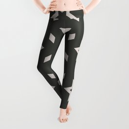 Black and white Stars Pattern Christmas Hollidays Leggings