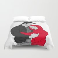 sterek Duvet Covers featuring Sterek - I'll protect you by Fidi