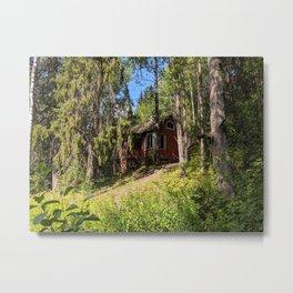 Nuuksio National Park Cabin - Espoo Finland Metal Print