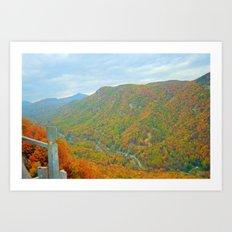 Stunning Mountain Scenery Art Print