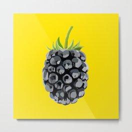 Blackberry Illustration Metal Print