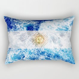 Flag of Argentina - Ocean Waves Rectangular Pillow
