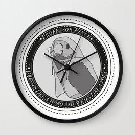 Poet Finch Wall Clock