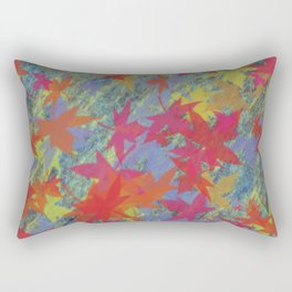 Leaf on texture_01  Rectangular Pillow