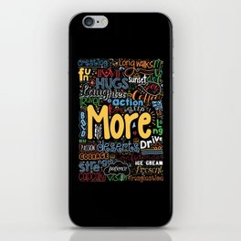 Lab No. 4 - More Motivational Quotes Poster iPhone Skin