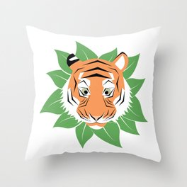 "Collection ""WILD"" impression "" The Tigress"" Throw Pillow"