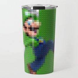 Luigi - Toy Building Bricks Travel Mug