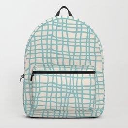 Blue Scribbles Pattern 06 Backpack