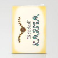 karma Stationery Cards featuring Karma by famenxt
