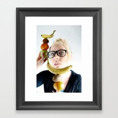 A good Food ballance is like math to a geek.... Framed Art Print