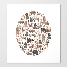 Woodland or Forest Animals! Canvas Print