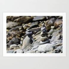 Balance Stones Art Print