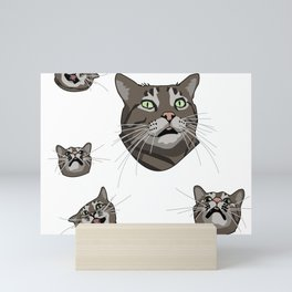 Luther the Crazy Cat Mini Art Print