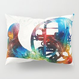 Colorful French Horn - Color Fusion By Sharon Cummings Pillow Sham