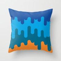 british Throw Pillows featuring British Summer by John Tibbott