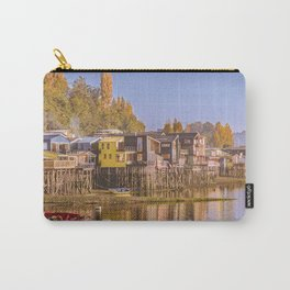Lakefront Palafito Houses, Chiloe Island, Chile Carry-All Pouch