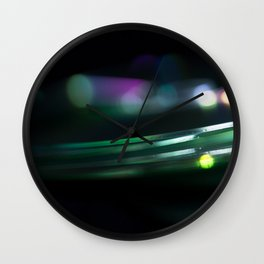 Stack of Compact Discs Abstract 10 Wall Clock