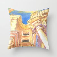 baroque Throw Pillows featuring baroque by Tereza Del Pilar