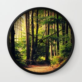 Woods Are Calling Wall Clock