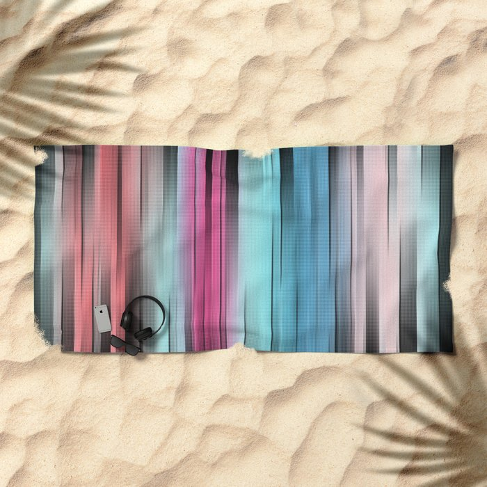Colorful Gradient Abstract Beach Towel
