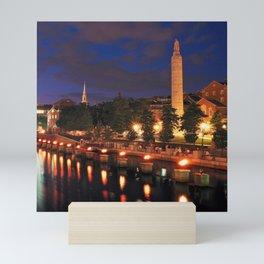 War Memorial Park Waterfire - Providence, Rhode Island Mini Art Print