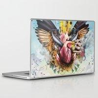 clockwork Laptop & iPad Skins featuring Clockwork Heart by Jay Haldon