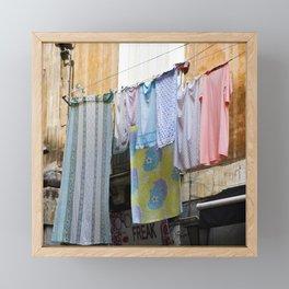 LAUNDRY DAY - Catania - Sicily Framed Mini Art Print