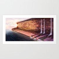 Piano Accord in Sea minor Art Print