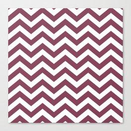 Purple, Mulberry: Chevron Pattern Canvas Print