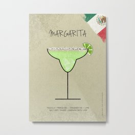 MARGARITA COCKTAIL Metal Print