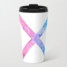 SUICIDE SQUAD HARLEY QUINN INSPIRED RED AND BLUE CROSS. Travel Mug