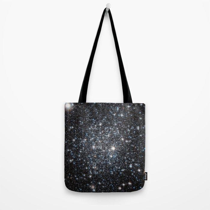Stars : subtle black blue gold Tote Bag