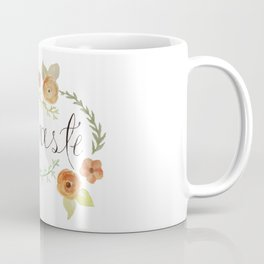 Namaste Floral Watercolor Coffee Mug